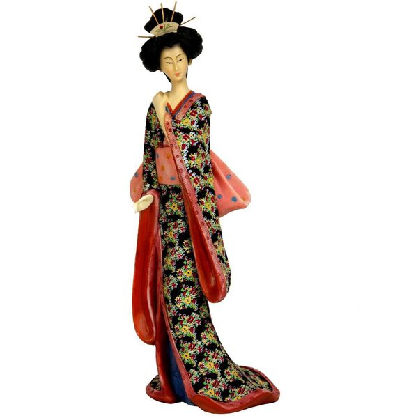"14"" Geisha Figurine with Pastel Sash (STA-GSH7)"