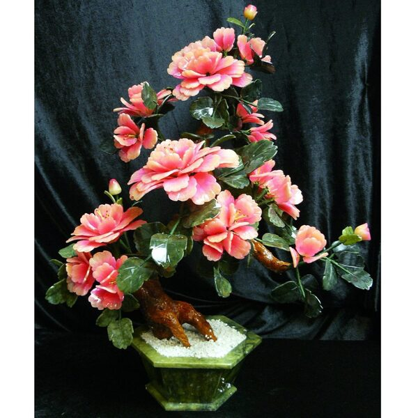 "30"" Jade Bonsai Tree with Multi-Colored Blossoms (GFT_JAD_SA20318)"