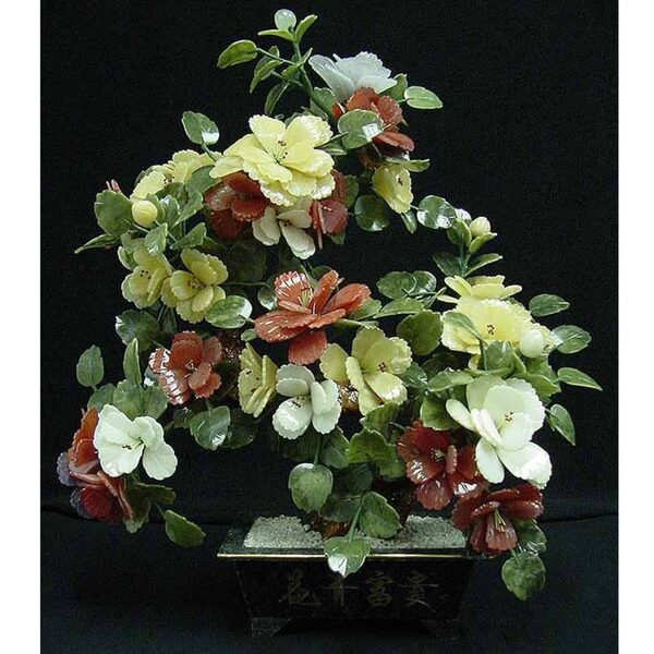 "30"" Jade Potted Flower with Multi-Color Blossoms (GFT_JAD_SA991)"