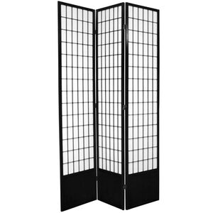 7 ft. Tall Window Pane Shoji Screen - Natural Honey Rosewood Black Walnut or White 3 Panels 4 Panels 5 Panels 6 Panels or 8 Panels (SS-84WP)
