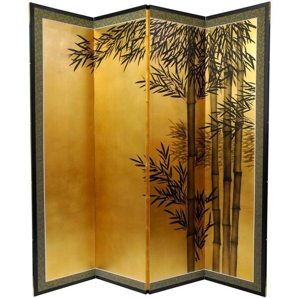 5 12 ft. Tall Gold Leaf Bamboo Room Divider (SILK-BAMBOOTALL)