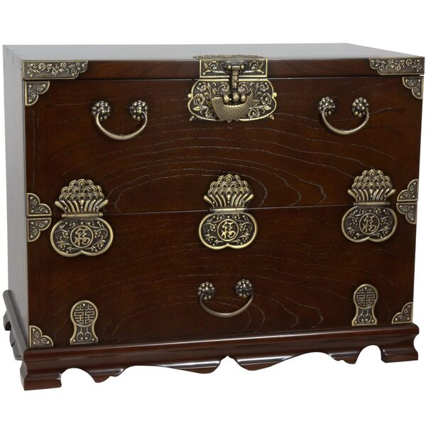 Asian Bandaji Antique Design Blanket Chest (KRN-H-8S)
