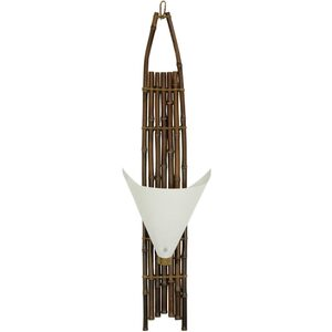 "39"" Baku Japanese Bamboo Wall Sconce - Dark Finish (WDLW-4)"