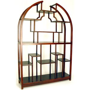 "Etagere Display Unit - Mahogany 48""W x 12""D x 72""H (WB-5699)"
