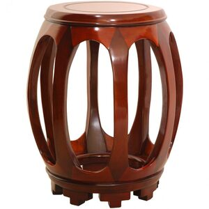 Rosewood Circular Stand - Honey (ST-HS64-H)