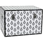 "Damask Storage Trunk - White 24""W x 16""D x 16""H (CAN-TRNK-BWDAM2)"