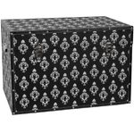 "Damask Storage Trunk - Black 24""W x 16""D x 16""H (CAN-TRNK-BWDAM)"