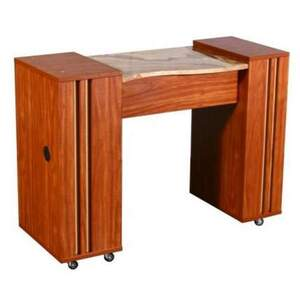 Adelle Manicure Table - Half Marble Top (FT502B)