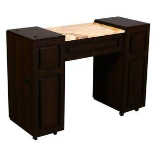 Canterbury A - Single Manicure Table - Half Marble Top (FT503A)