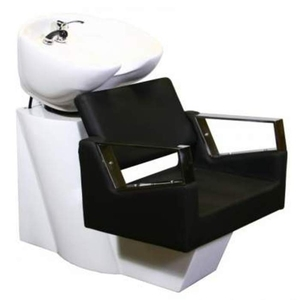 Fiore Shampoo Chair Station - BlackWhiteWhite (SF3895-BWW)