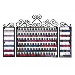 3 Piece Wrought Iron Nail Polish Rack 250 Bottles (FD250)