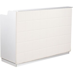 "The Fab Reception Desk - 60"" Wide - White Structure White Façade ()"