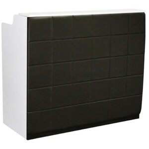 "The Fab Reception Desk - 48"" Wide - White Structure Black Façade ()"