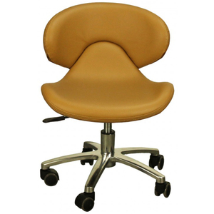 "The Ottavia Pedicure Stool - Caramel Seat Height 13.25""-16"" (FC1001-046)"