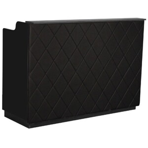 "The Le Beau Reception Desk - 60"" Wide - Black Structure Black Façade (SF1121-P02B)"