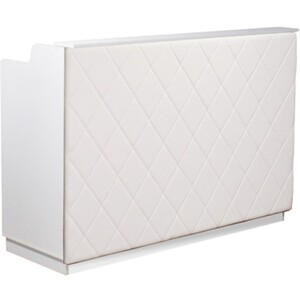"The Le Beau Reception Desk - 60"" Wide - White Structure White Façade (SF1121W-P02W)"