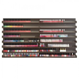 "The Big Rack Nail Polish Rack - Chocolate Holds 400 Nail Polishes - 65""H x 35""W x 2.75""D (FD202-858)"