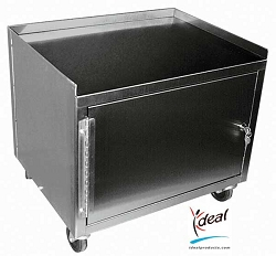 "2 Shelf Stainless Steel Cabinet Cart 21""x16""x30"" by Ideal Products (MCC221)"