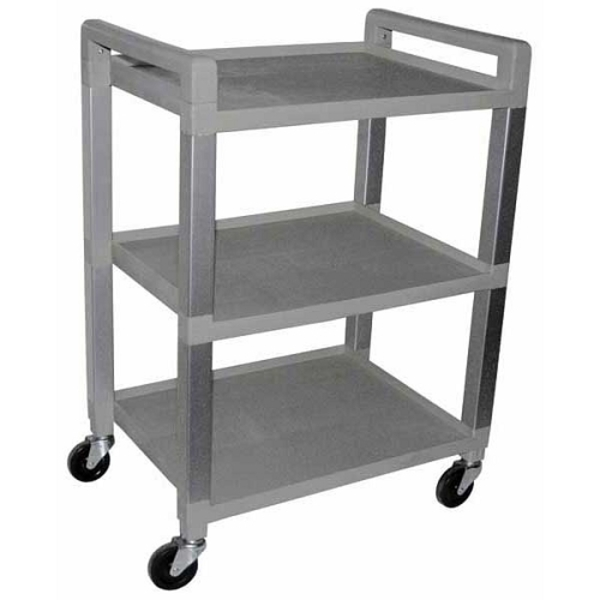 "3 Shelf Poly Utility Cart 21""x 15""x 30"" by Ideal Products (UC320)"