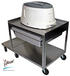 "2 Shelf Stainless Cart with Drawer 31""x16""x19"" by Ideal Products (PC21D)"