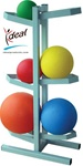 Vertical Medicine Ball Rack Free Standing - Holds 6 Balls by Ideal Products (MBR60)