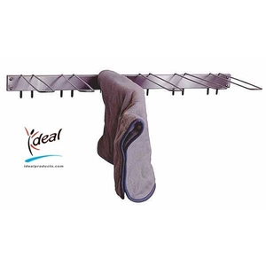 "6 Hook Hot Pack Cover Drying Rack 3""x12""x33"" by Ideal Products (HCR6)"