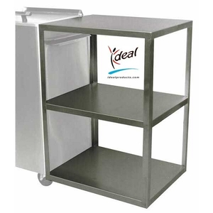 "Stainless Steel Side Table 21""x16""x27"" by Ideal Products (ST321)"