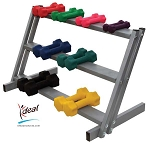 "Horizontal Dumbbell Rack 36""x12""x22"" by Ideal Products (HWR27)"
