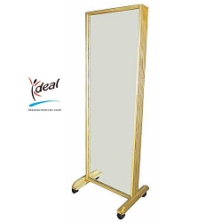 "Deluxe Oak Posture Mirror 24""x18""x65"" by Ideal Products (21.1)"