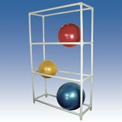 "Therapy Ball Floor Rack 54""x18""x82"" by Ideal Products (SR384)"