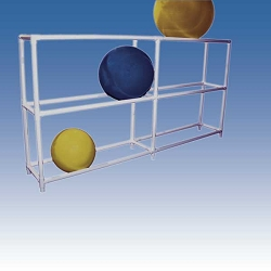 "Therapy Ball Floor Rack 107""x18""x56"" by Ideal Products (SR3107)"