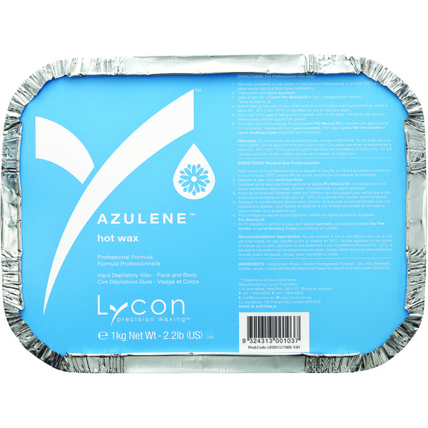 Lycon Azulene Hot Wax - Stripless Hard Wax 1 Kilogram - 35.3 oz. (WHLL1300)