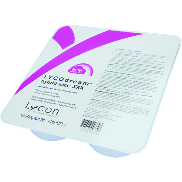 Lycon LYCODream Hybrid Wax - Stripless Hard Wax 500 Grams - 17.6 oz. (WHS3000)
