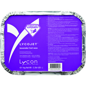 Lycon LycoJet Lavender Wax - Stripless Hard Wax 1 Kilogram - 35.3 oz. (WHLL2000)