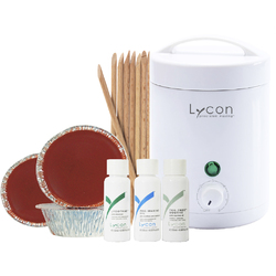 LYCON Baby Face Waxing Kit - Perfect for small work stations and mobile salons! (WAWBHKIT)