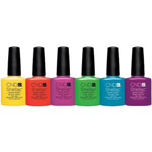 CND SHELLAC Paradise Summer Collection 2014 - Set of 6 Colors! (768995)