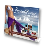 "8.5"" X 11"" Point-of-Purchase Stand-Up Counter Display for Extended Vacation Products"