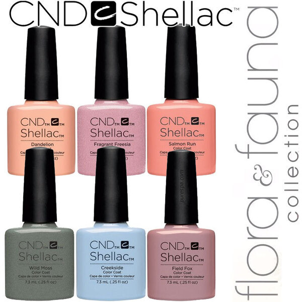 CND SHELLAC UV Color Coat - Spring 2015 Flora & Fauna Collection - Complete 6 Color Set ()