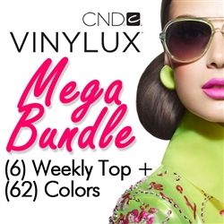 CND VINYLUX Mega Bundle - 62 Colors + 6 Weekly Top Coats (900300)