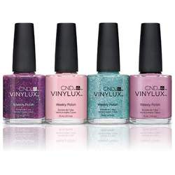 CND Vinylux Polish - 2015 Aurora Collection - All 4 Colors 0.5 oz. Each - 7 Day Air Dry Nail Polish ()