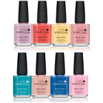 CND Vinylux Polish - Summer 2016 Flirtation Collection 8 Piece Color Set - 7 Day Air Dry Nail Polish ()