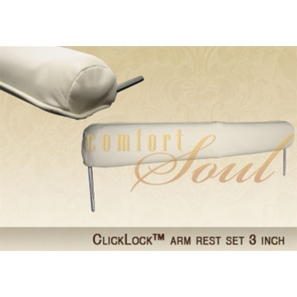 ClickLock Arm Rest Set - 3 Inch Set by ComfortSoul (AR300I)