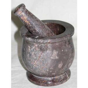 "Mortar and Pestle - Soapstone 3"" x 3"" (LM33)"