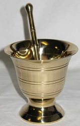 Mortar and Pestle - Brass Large (LMBL)