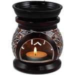 "Brown Flowers Oil Diffuser - 4.5"" by 2.5"" (OD421TA)"