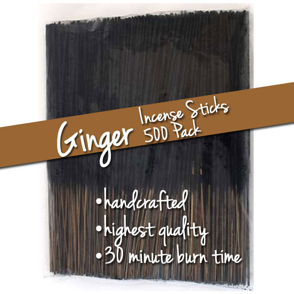 Ginger Incense Sticks 500 Pack (ISGINX)