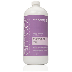 Lavender Massage Oil 32 oz. by Amber Products (AMB526-L)