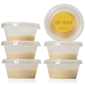 French White Wax Six 12 oz. Cups by Amber Products (AMB138)