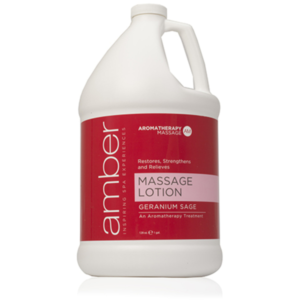 Geranium Massage Lotion 1 Gallon by Amber Products (AMB530-GS)