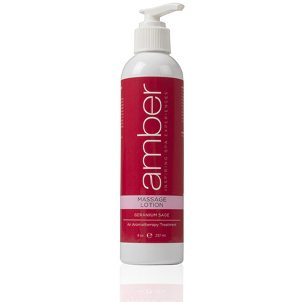 Geranium Massage Lotion 8 oz. by Amber Products (AMB528-GS)